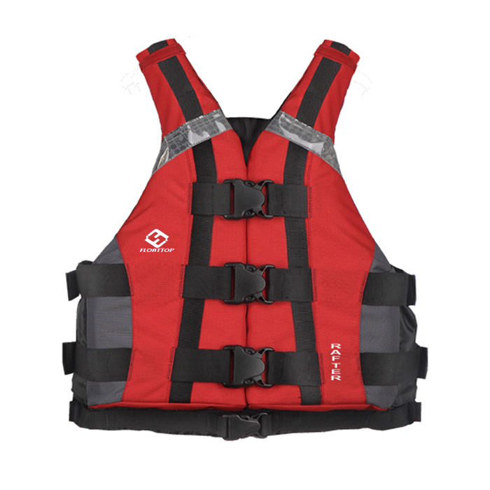 FLOATTOP Robust Rental Kayak School and Rafting Vest [Red]