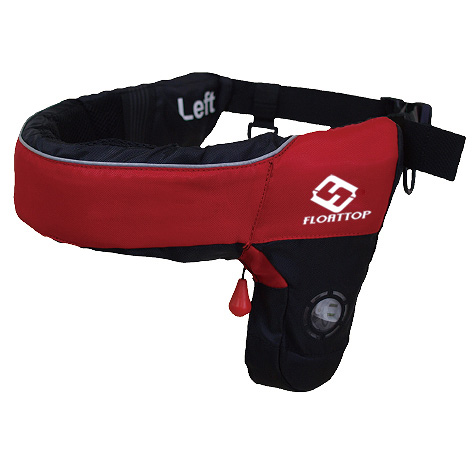 FLOATTOP Adult Belt Pack INFLATABLE LIFE JACKET [RED]