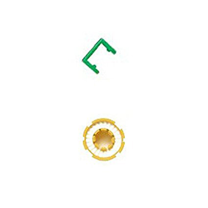 FLOATTOP Yellow Bobbin and Green Clip for Inflatable PFD